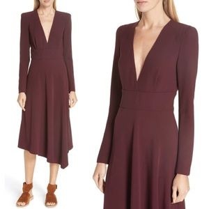 A.L.C Assymetrical Burgundy Maroon Dress B751